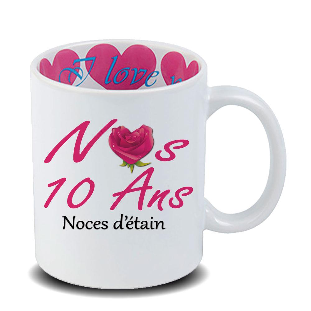 Mug Anniversaire De Mariage 10 Ans