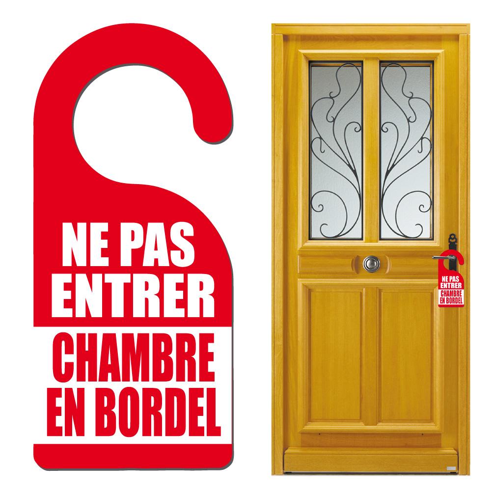 Accroche Porte Ne Pas Entrer Chambre En Bordel - Accroche porte