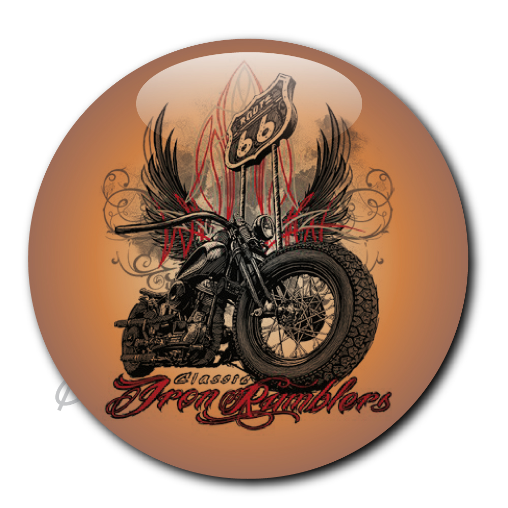 Badge pin's bobber choppers route 66