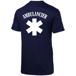 t shirt bleu Ambulancier