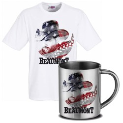 Ensemble Tee shirt mixte et mug inox Didier Beaumont