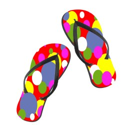 paire de tongs multicolore